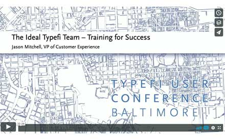 Cover slide of Jason Mitchell's presentation 'The Ideal Typefi Team - Training for Success'.