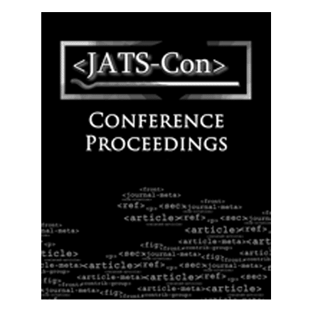 JATS-Con Conference Proceedings cover