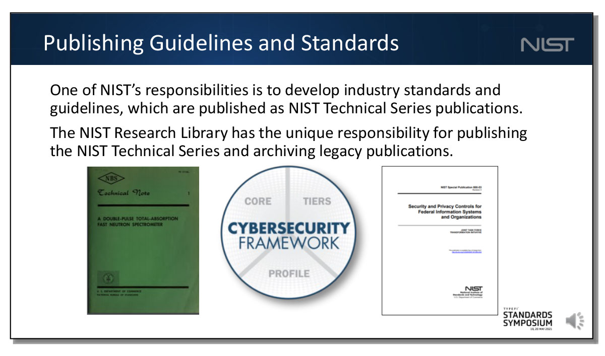 A slide showing old technical notes published at NIST.